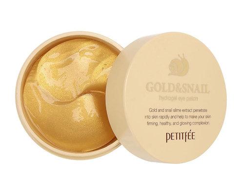 Гидрогелевые патчи для век Petitfee Hydro Gel Eye Patch Gold & Snail