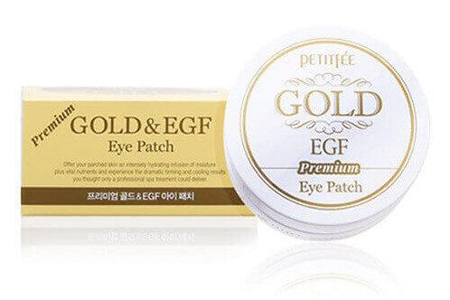 Гидрогелевые патчи с золотом и EGF Petitfee Premium Gold & EGF Eye Patch