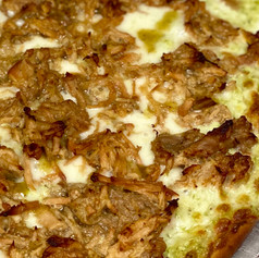 Green Chile Pulled Pork Pizza