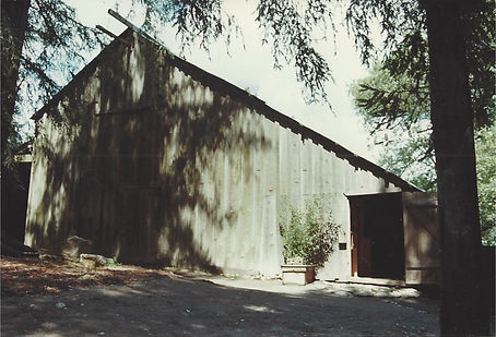 Old photograph of Sonoma Mountain Zen Center zendo