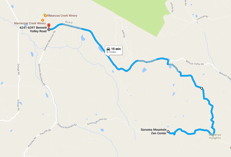 map of Enterprise Road detour