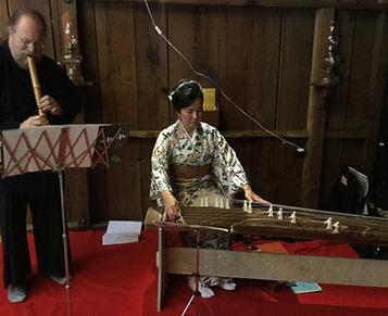 Elliot Kallen on shakuhachi and Naoko on koto and shamisen