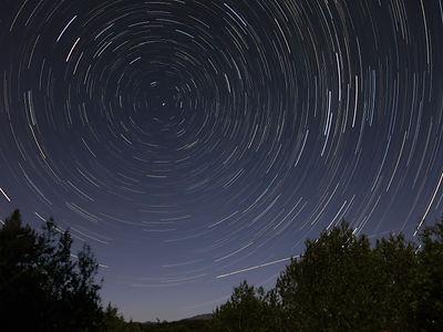 time lapse Sonoma Mountain night sky