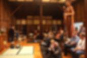 musical performance inside Sonoma Mountain Zen Center zendo