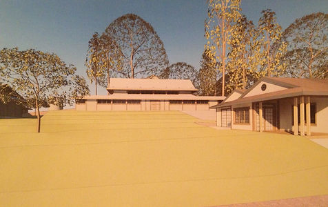 Model of new Sonoma Mountain Zen Center temple buidings
