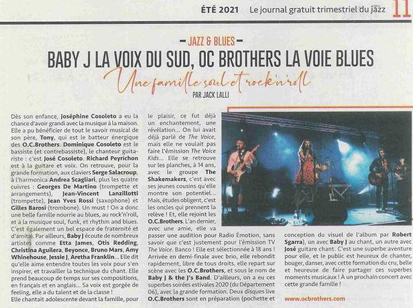 Article BABY J et OCBROTHERS Jazzophone