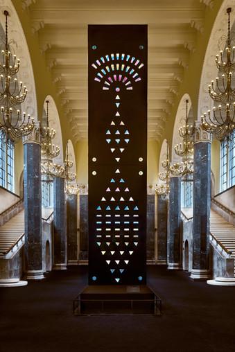 Arte e ilusão de ótica com cristais Swarovski