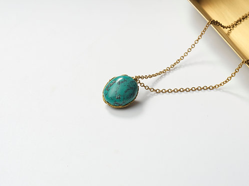 Stone Necklace (Turquoise)