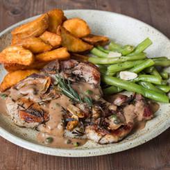 Pork Chop with Grilled Vegetables