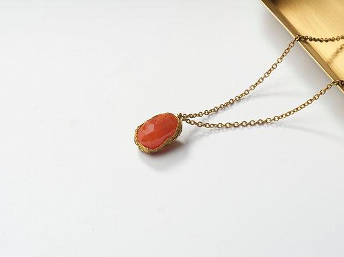 Stone Necklace (Carnelian)