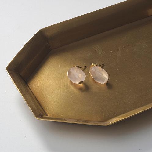 Stone Earring (Rose Quartz)