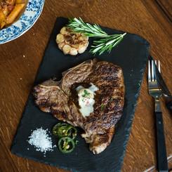 T-BONE Steak with Garlic-Herb Butter