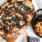 Bacon Spinash Pizza