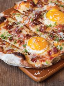 Egg Bacon & Cheese Pizza