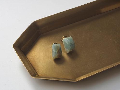 Stone Earring (Aquamarine)