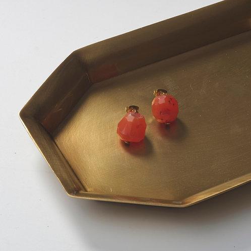 Stone Earring (Carnelian)