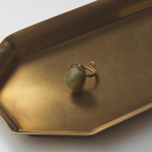 Stone Ring (Aquamarine )