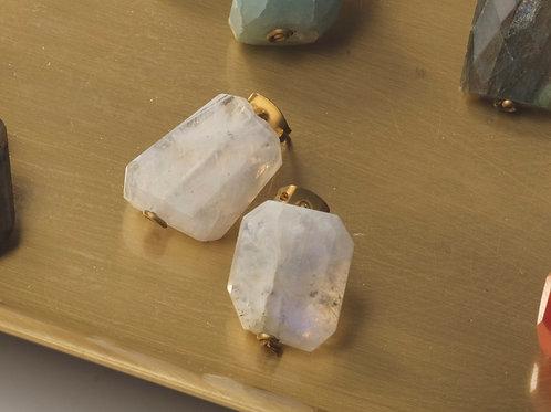 Stone Earring (Moon Stone)