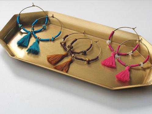 Hoop & Cotton Earring