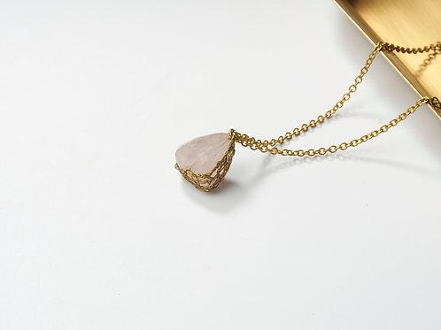 Stone Necklace (Rose Quartz)