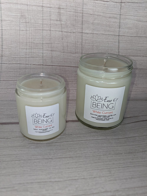 White Currant soy wax candle