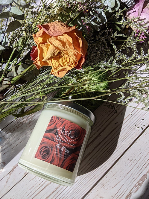 The Roses soy wax candle