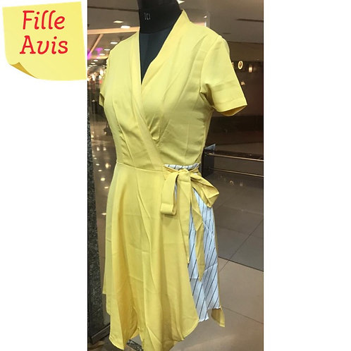 Yellow Solid Party Dress