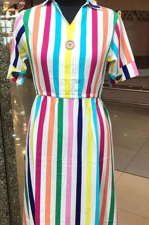 Multicolor Strip Dress