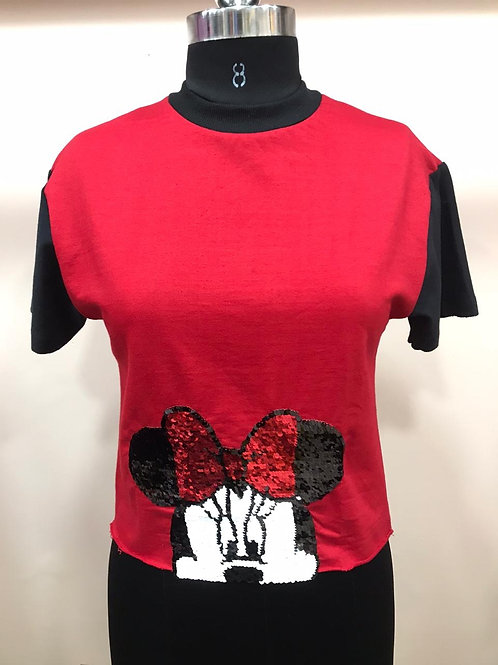 Micky pattern T-shirt cum top