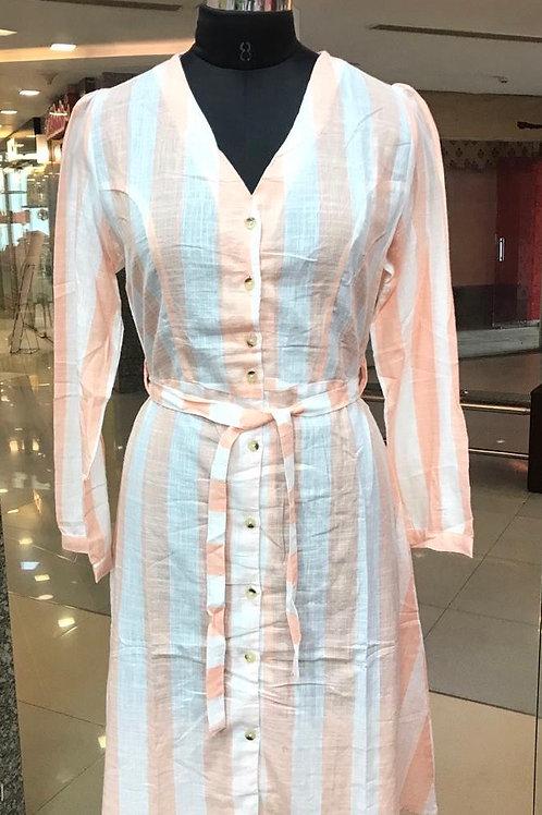Strip Casual Dress