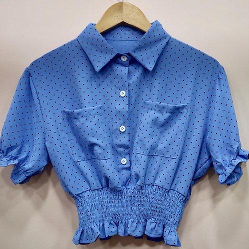 Polka dot Crop shirt cum top