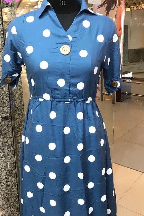 Polka Dot Belt Pattern Dress