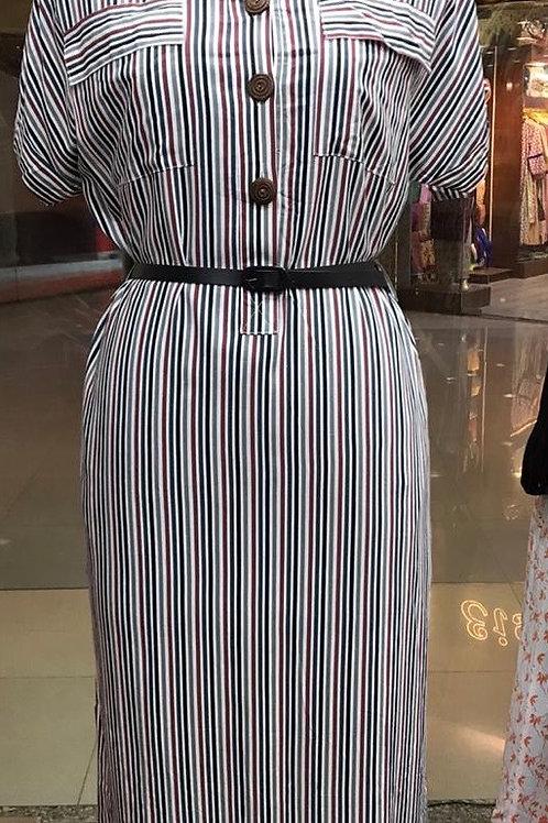 Full length midi dress