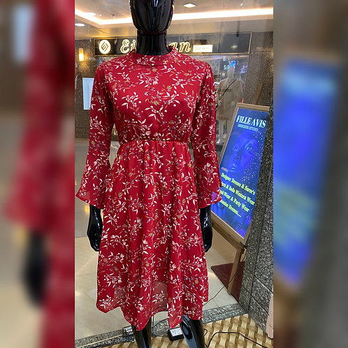 Multi-Color Printed Dress