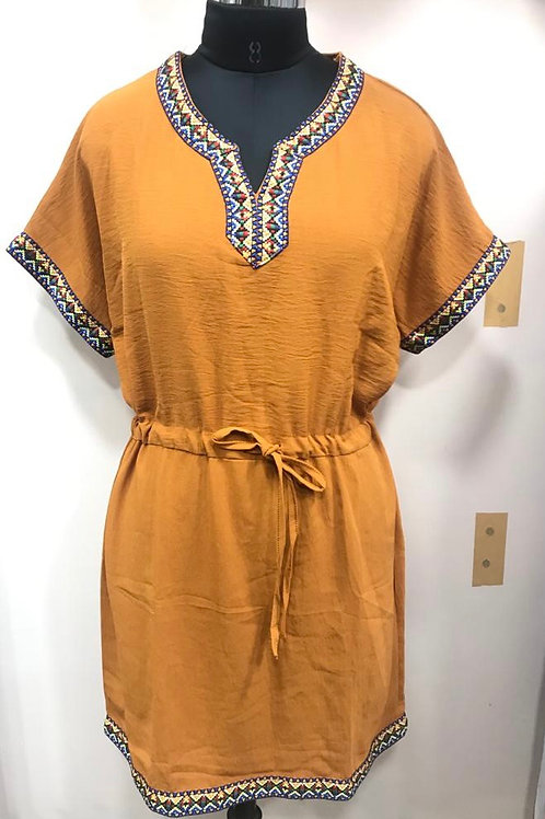 Always Around Orange Dress
