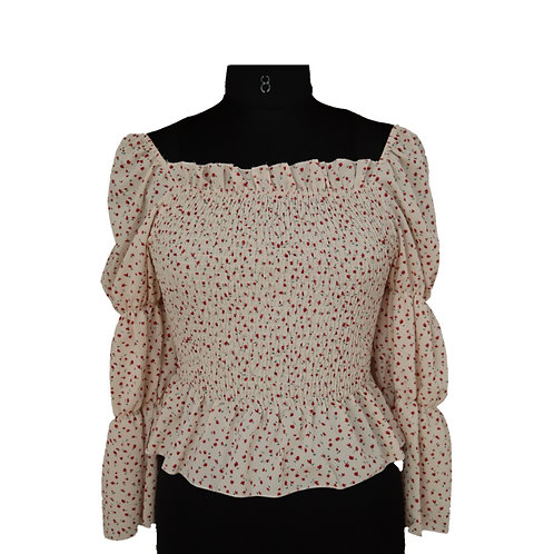 Floral crafted top