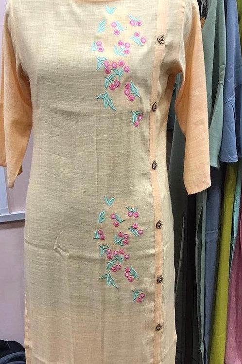 Thread embroidery kurti