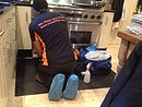 cleaning Range cooker