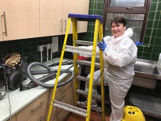 Church commercial  kitchen deep clean in Tooting