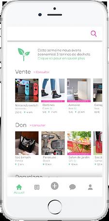 L'application MOOM, plateforme d'achat/revente C2C pour les citoyens