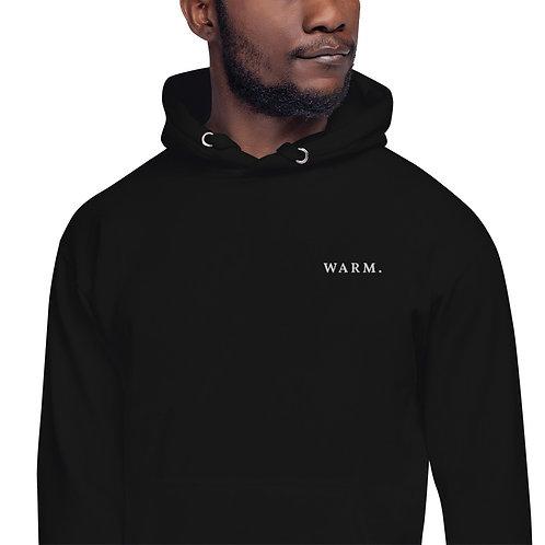 """Unisex Black Hoodie """"Warm."""""""