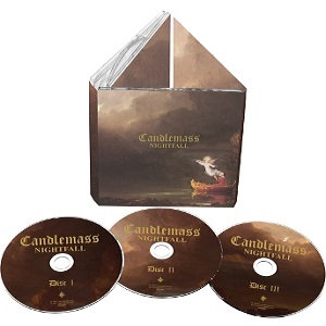 3CD boxset epic doom metal band CANDLEMASS Nightfall 30th Anniversary Edition