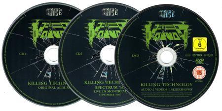2CD plus DVD mediabook boxset thrash metal band VOIVOD Killing Technology
