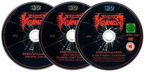 2CD plus DVD mediabook boxset thrash metal band VOIVOD Rrröööaaarrr