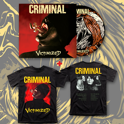 CRIMINAL - Victimized CD + Polera