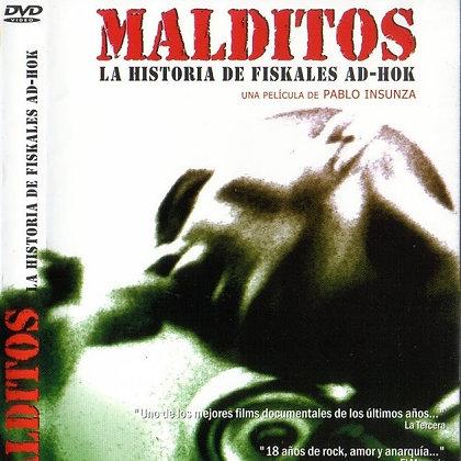 DVD chilean metal band Fiskales AD-HOK Malditos La Historia de Fiskales AD-HOK