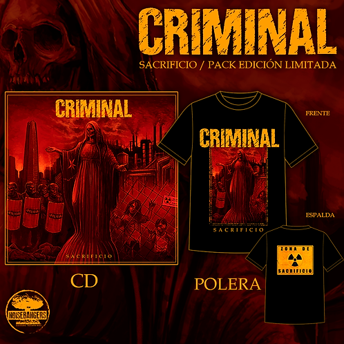 CRIMINAL Sacrificio CD + POLERA
