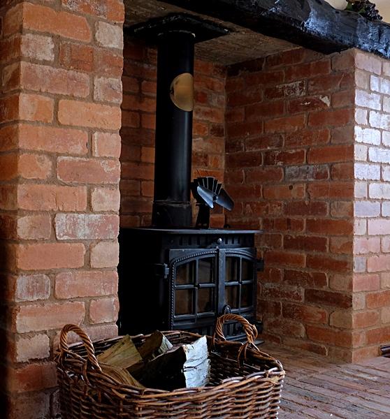 Woodburner kitchen Summerhill Court