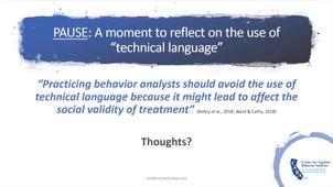 ABA & Technical Language