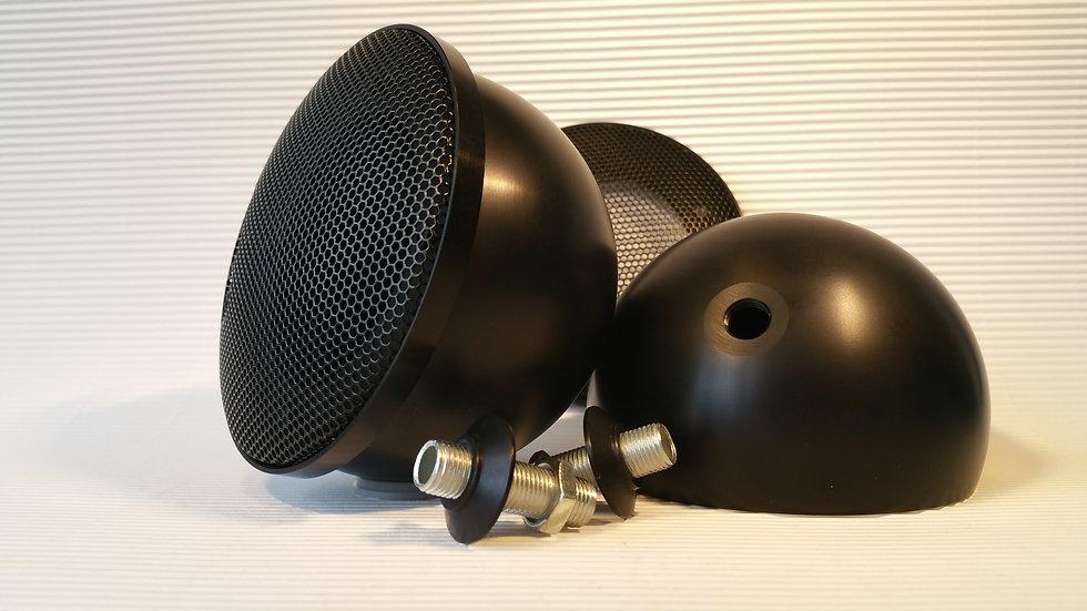 Black Midrange Pods for Hertz with Grill (M10x1)